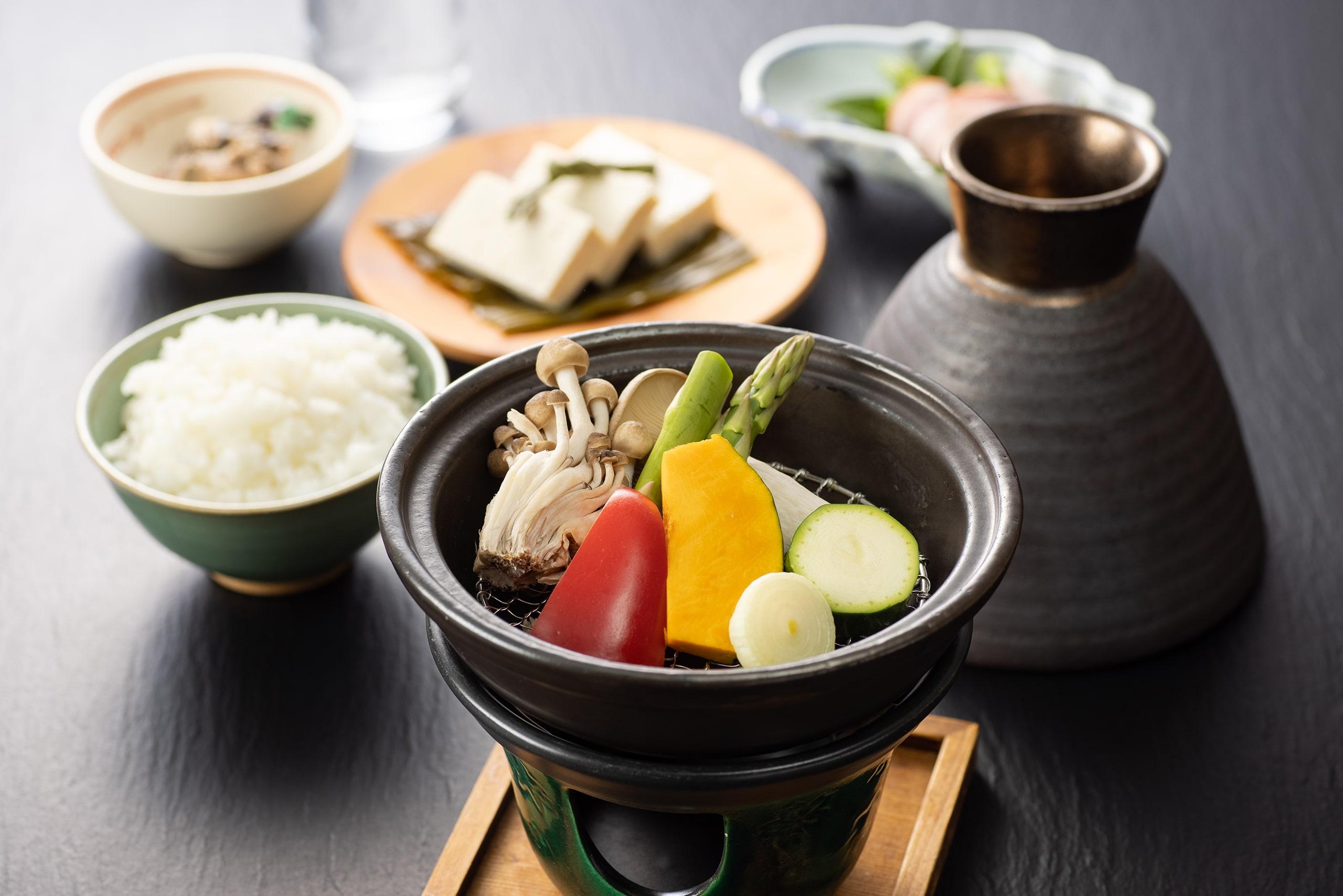 温泉野菜の温野菜