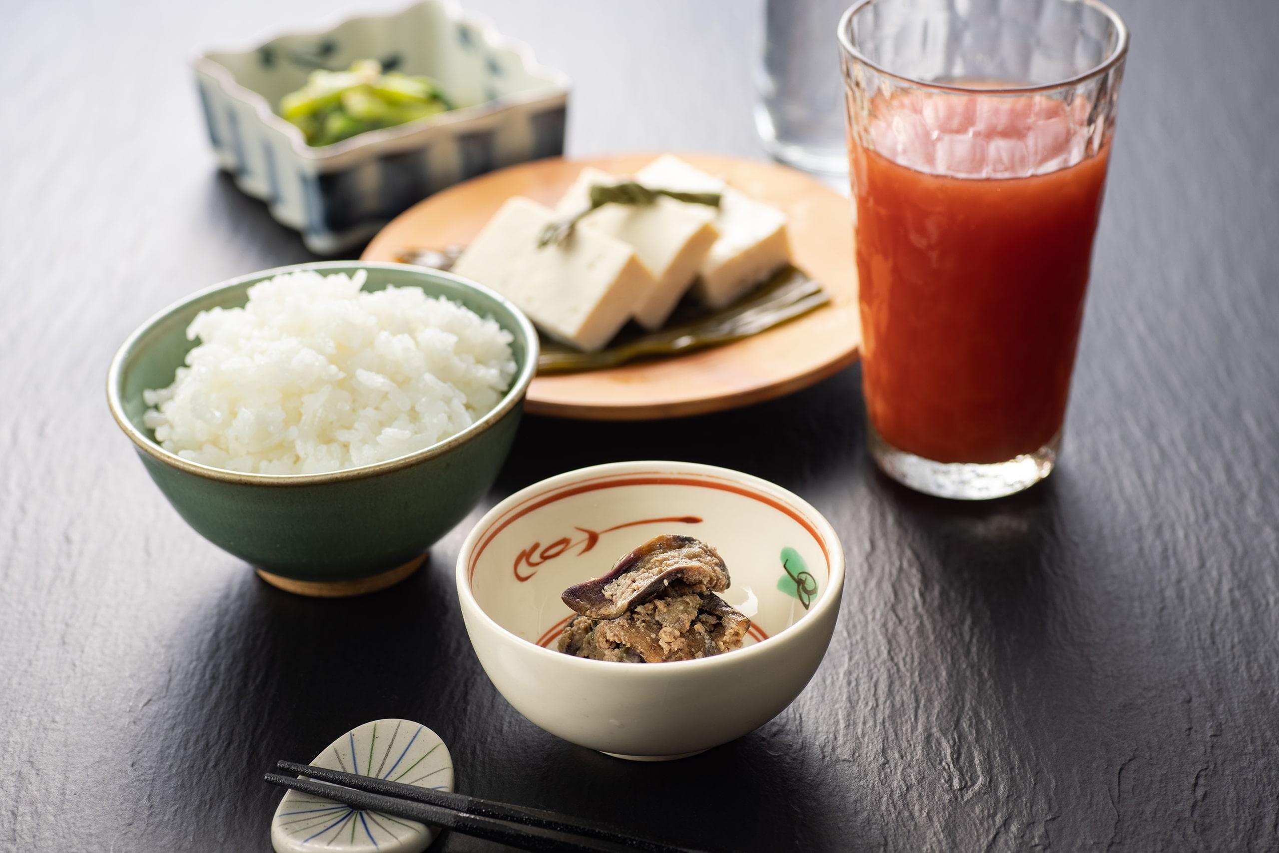 干しナスとそぼろの味噌炒め